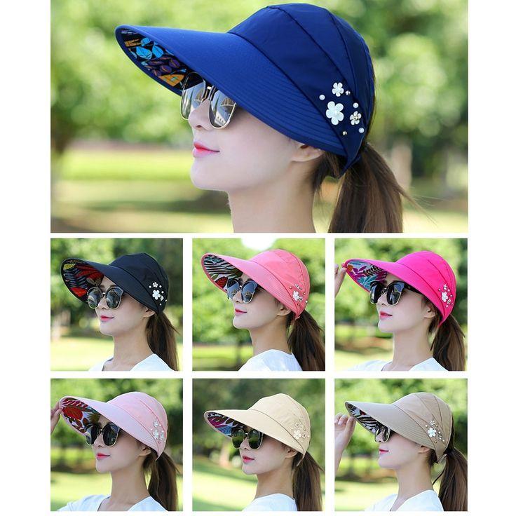1Pc Outdoor Foldable Sun Hat Ultraviolet Proof Sun Block Cap UV Protection Hats
