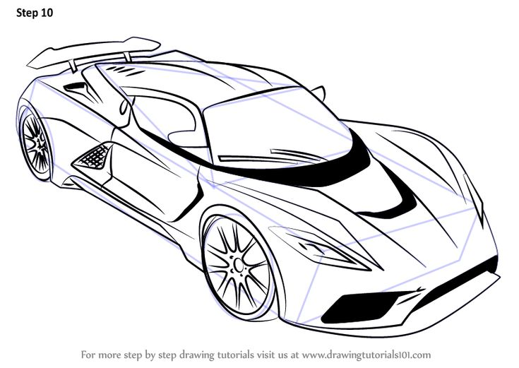 learn how to draw venom f5 sports cars step by step drawing tutorials - Sport Cars Drawings