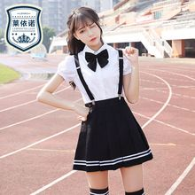 Verano Uniformes de La Escuela Secundaria Los Estudiantes Japoneses Uniformes Nueva Llegada Camisa de Algodón + Falda + Tie 3 unids Conjunto(China (Mainland))