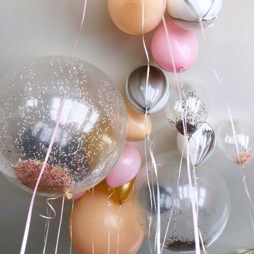 Glitter-filled balloons.