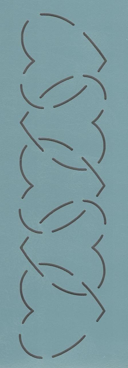 """Hearts Border 2.5"""" - The Stencil Company"""