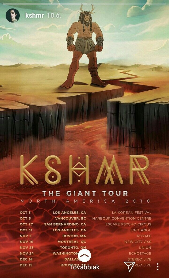 The Giant Tour 2018 North America New City Tours San