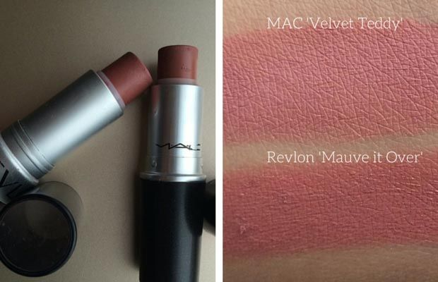 MAC Velvet Teddy Dupe | Revlon Mauve it Over