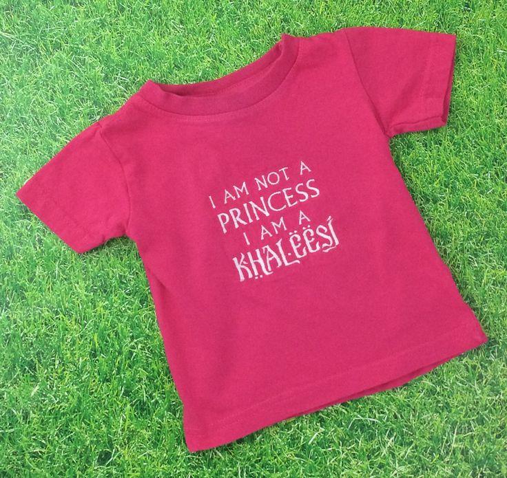 """GOT Khaleesi baby girls embroidered t-shirt / """"I Am Not A Princess I Am A Khaleesi"""" - pinned by pin4etsy.com"""