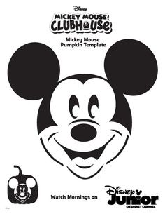 Mickey Mouse ClubHouse - Disney pumpkin stencil Uploaded by www.professional-cv-writer.co.uk