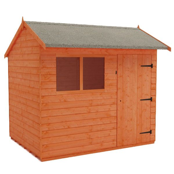 This shed is also available with a window either side of the door for a more balanced look. It has all the features I'm after - the hipex roof, the floorspace and the door in the side. With a lick of paint it should look good at the end of our garden, softened by the holly bush, pheasant berry and the invasive japanese anemones which I just can't bare to pull out.
