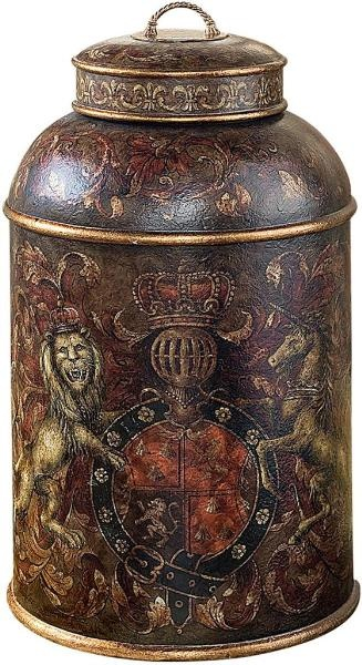 Lion Crest Tea Caddy
