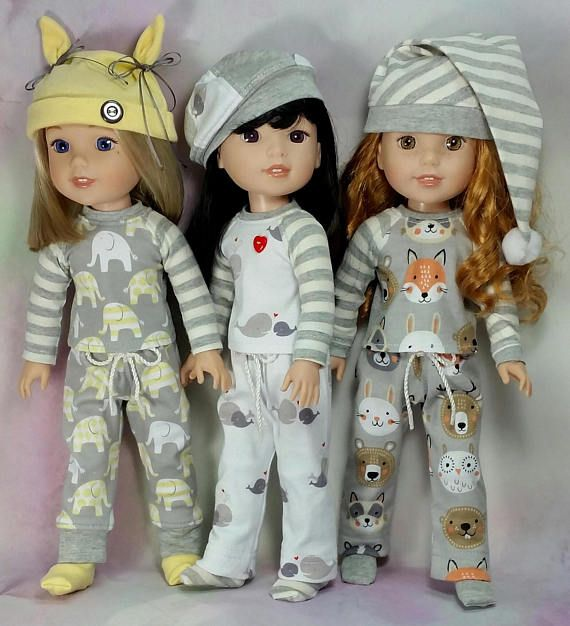 "Hot Cocoa 1PC Pajama Slippers 14/"" Doll Clothes Fit American Girl Wellie Wishers"