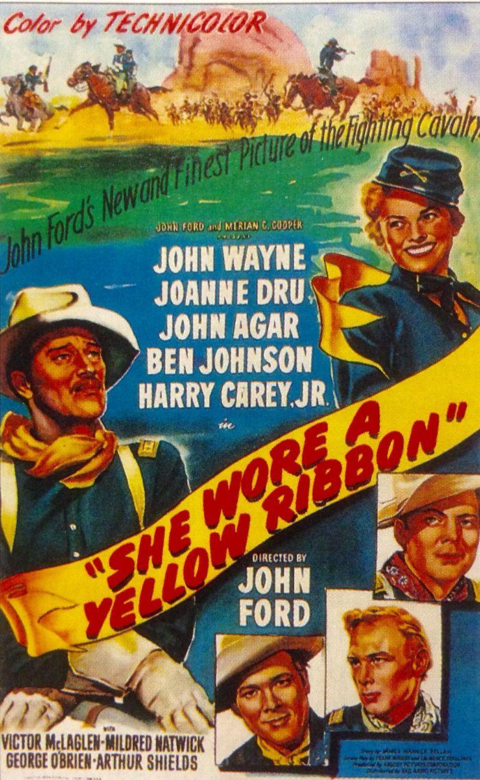 """""""황색 리본"""" She Wore a Yellow Ribbon 1949 존 웨인 주연"""