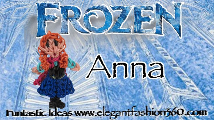 Rainbow Loom Princess Anna (Frozen) Figure/Charm - How to tutorial by Elegant Fashion 360.