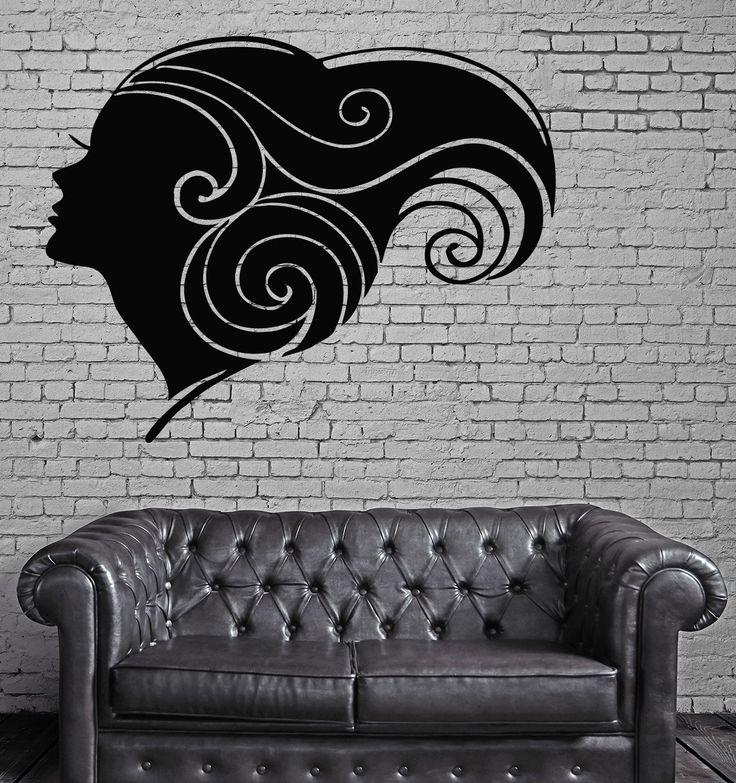 Sexy Hot Girl Woman Hair Spa Beauty Salon Wall Art Decor Vinyl Sticker z531