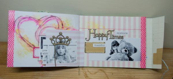 Mini Album by Claire Barrin, featuring Scrap FX chipboard and stamps. www.scrapfx.com.au