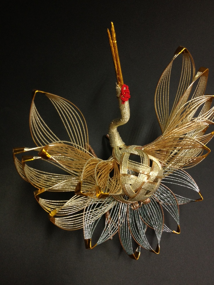 crane mizuhiki for wedding
