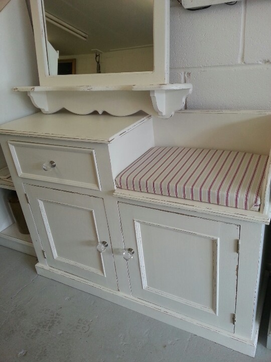 Old Telephone Cabinet Into Shoe Bench Telephone Table