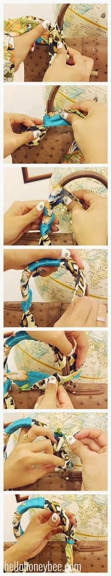 How to wrap a scarf handle on a bag