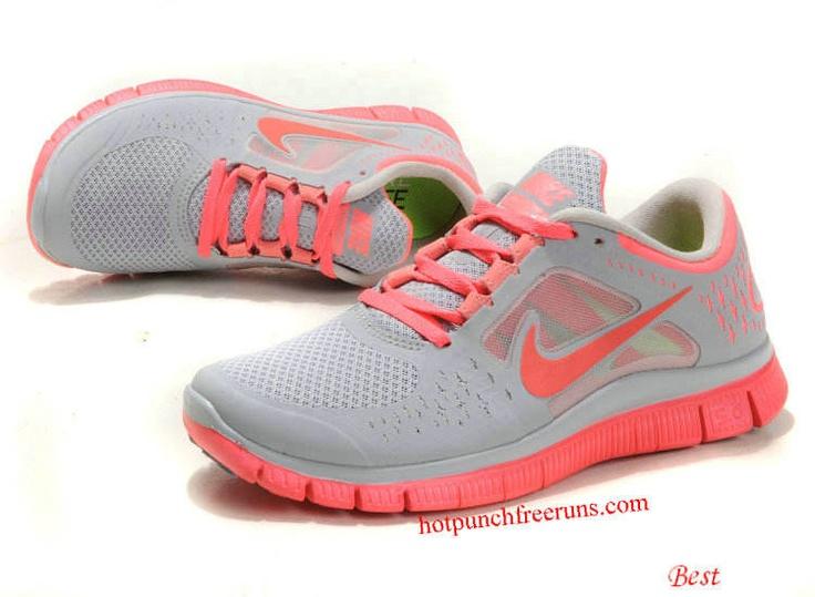 Hot Punch Nike Free Run 3 5.0 Wolf Grey Bright Crimson 510643 061