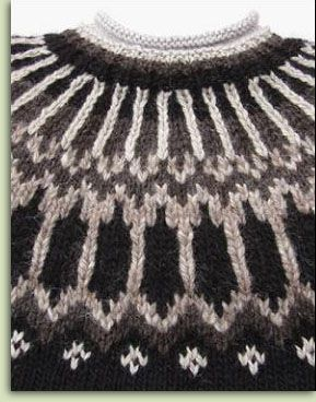 Icelandic Sweater. Have a cardigan like this.  It is very warm so you better wear it on a very cold day.