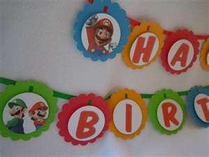 Mario Birthday SignBirthday Signs, Bday Ideas, Birthday Parties, Mario Birthday, Birthday Mario, Parties Ideas, Mario Parties, Luigi Parties, Birthday Ideas