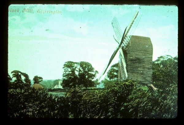 Black mill, Storrington, West Sussex. The mill is long gone but it's name lives on in the street name Windmill Copse.