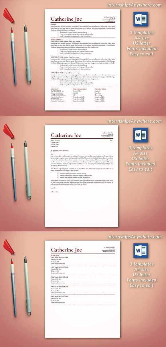 1487 best Resume Templates images on Pinterest - adobe indesign resume template