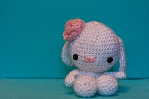 Adorable mini Easter Bunny toy by sophiezhappy on Etsy, $18.00