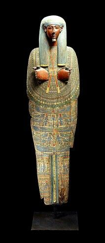 Ancient Egyptian sarcophagus lid, 1080-720 BC.