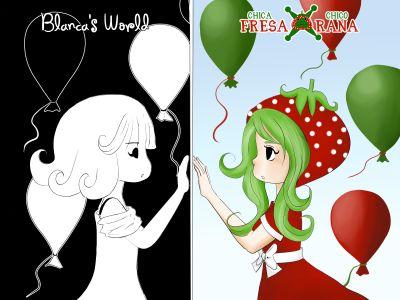Dos de mis personajes Blanca Y Berry ~