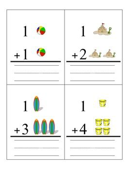 fun in the sun addition flashcards education addition flashcards math classroom teaching math. Black Bedroom Furniture Sets. Home Design Ideas