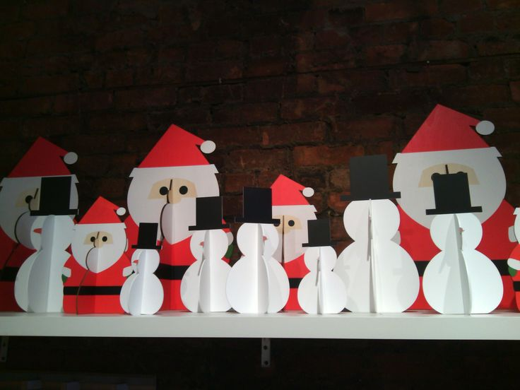 These adorable collapsable santas and snowmen are the perfect decor idea for a mantlepiece or windowsill! Available at the #DesignAnnex and the #ShopatAGH