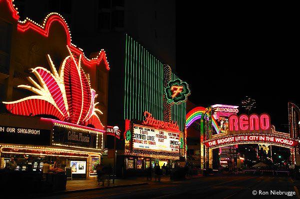 Casino Lights at Night, Reno, Nevada