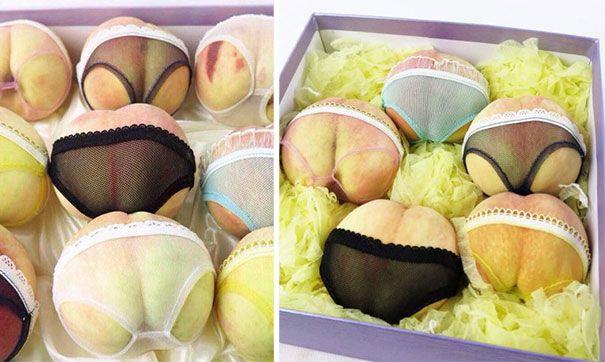 Bored Panda. Peaches in a China dressed in lingerie!