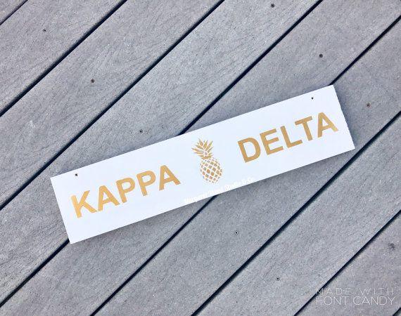 Golden Southern Charm Sign // Pineapple // Big Little Reveal // Sorority gift basket // Sorority Canvas // Big Little Gifts // Kappa Delta