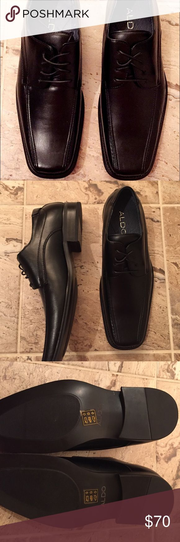 New in box Aldo men's shoes These shoes have never been worn. They are still in the original box and even have the tissue stuffing inside of the shoe. Would be perfect for a Christmas gift or a New Years outfit! Aldo Shoes Oxfords & Derbys