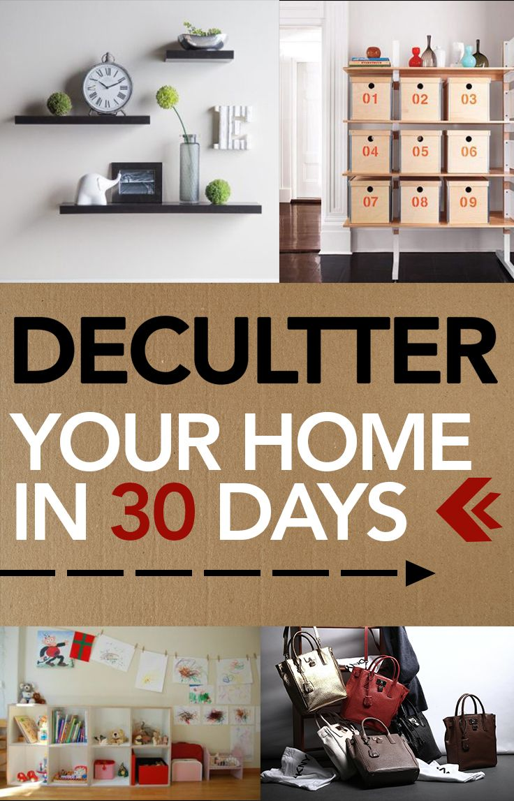 Declutter your home in 30 days declutter popular pins for Storage ideas for small houses uk