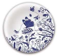 milner plate delfts blauw