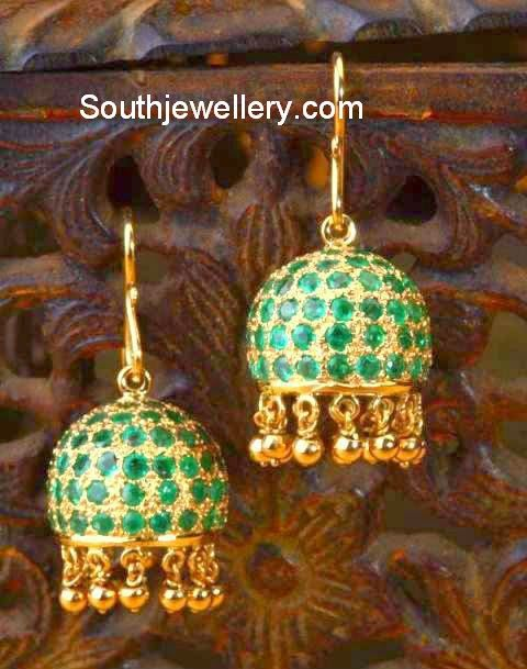 Emerald jhumkis gold jhumkas pinterest emeralds for The universe conspires jewelry
