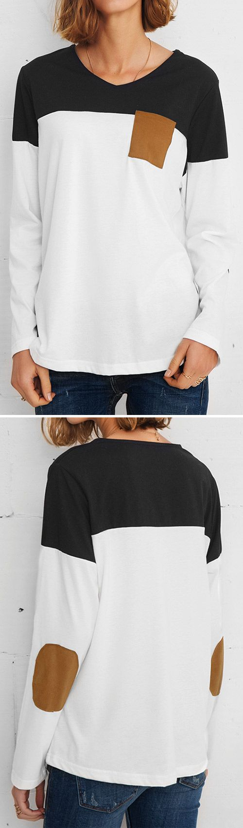 $23.99 Only with free shipping&easy return! This contrast color top gonna get you back in check! Must-have suede top-get it with more holiday surprises at Cupshe.com