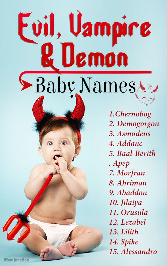 60 Evil, Vampire And Demon Baby Names - Any Takers? | Baby Names