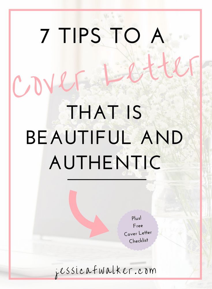 7 tips for a beautiful authentic cover letter #Coverletters