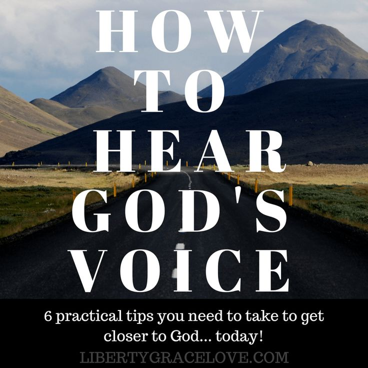 How to hear Gods Voice Graphic