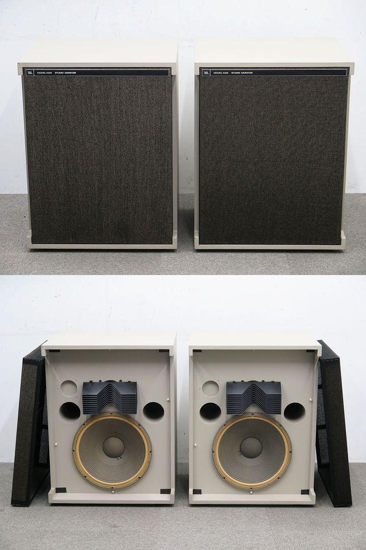 ●JBL 4320 2ウェイスピーカーシステム ペア スタジオモニター の出品です。 ○スピーカー(ペア) メーカー:JBL モデル:Model 4320 外形寸法(mm/約):W605×D516×H783(※1台あたり) 当方のテスト用プレーヤーと接続して音出し確認済みです。 音質などは感じ方に個人差があると思いますが、 ライヴような響きで臨場感を感じました。 振動版とウレタンエッジは状態が良いように見えますので、 当時物ではなく交換されていると思います。 外観に色褪せやキズ汚れや天面端に削れ等はござい