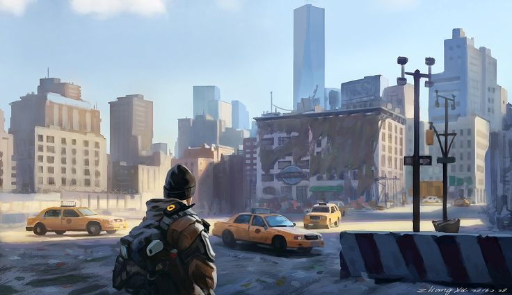 (The division)concept art practice - Speed Painting, Xu Zhang on ArtStation at https://www.artstation.com/artwork/aglB0