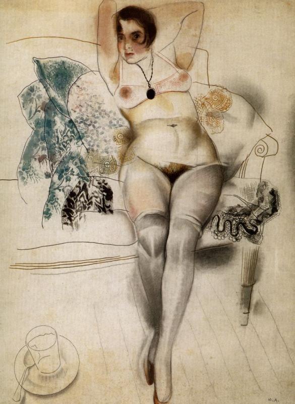 Анненков Ю.П., Портрет В. Мотылевой  63 х 47 см , 1920 г.