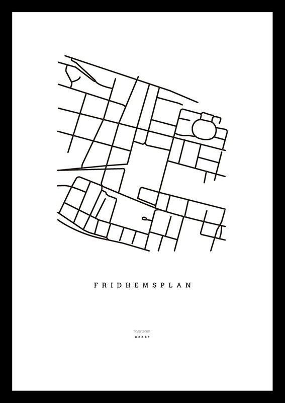 Karta över Fridhemsplan, Stockholm via kvarteren. Click on the image to see more!