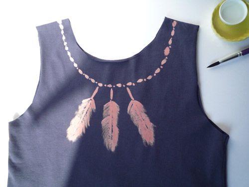 Peindre un tee shirt à la javel #DIY http://www.modesettravaux.fr/peindre-a-la-javel/