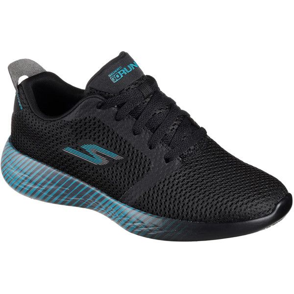 Skechers Women's Skechers Gorun - Spectra Black 7.5 - Skechers... ($65) ❤ liked on Polyvore featuring shoes, athletic shoes, black, skechers shoes, black athletic shoes, skechers footwear, lightweight shoes and black shoes