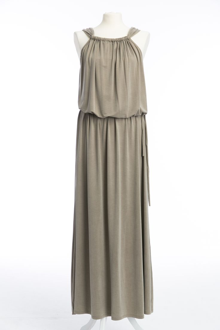 Beige dress maxi cupro - the new collection of The Same