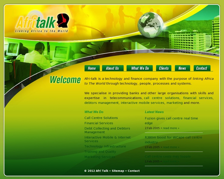 Logo and website design for Afritalk   www.afri-talk.com