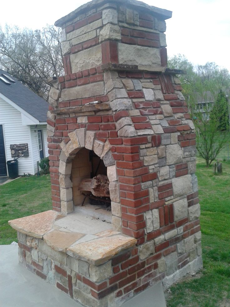 Stone And Brick Fireplace 22 best outdoor fireplaces images on pinterest | outdoor