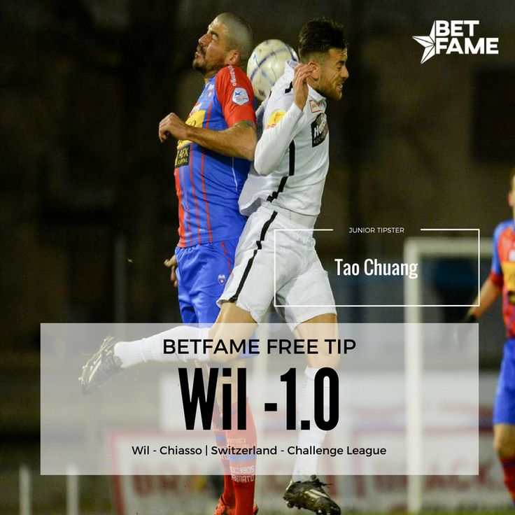 BetFame free soccer tips, contributed by Tao Chuang. . Wil - Chiasso, Wil -1.0 at odds 1.80. #betfame #freesoccertips